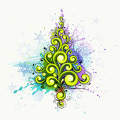 Abstract Christmas tree — Stock Vector