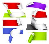 Sammlung von farbpapieren — Stockvektor