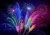 Feuerwerk — Stockvektor