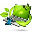 Royalty-Free Stock Vector Image: Green computer