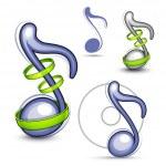 hudební nota — Stock vektor