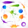 Stock Vector: Paint splashes