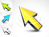 Colour arrows — Stock Vector