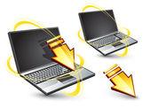 Laptop — Stockvektor