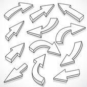 Drawings of arrows — Stock Vector