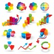 Colour diagrammes and elements — Stock Vector
