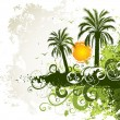 Tropical island - Stock Vector