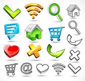 Iconos de la web — Vector de stock