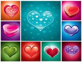 Hearts — Stockvector
