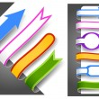 Colour bookmarks — Stock Vector