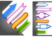 Colour bookmarks — Stock Vector