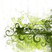 Summer green composition — Stock Vector