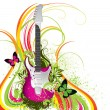 Abstraction with a guitar — Stock Vector #5277402