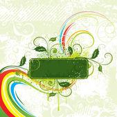 Colour vegetative composition — Stock Vector