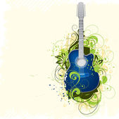 Abstraction with a guitar — Stock Vector