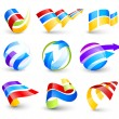 Collection of colour icons — Stock Vector #5307752