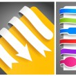 Stock Vector: Colour bookmarks