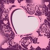 Postcard for valentine — Stock Vector