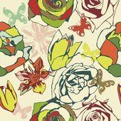 Tekstura wektor kwiatowy — Wektor stockowy