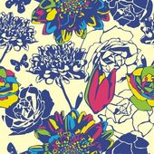 Floral vector texture — Stock Vector