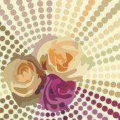 Floral postcard — Stock Vector