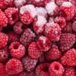 Frozen raspberries — Foto de Stock