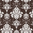 Seamless damask wallpaper - Stok Vektör