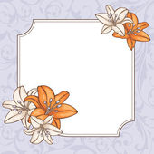 Abstract floral card — Vecteur