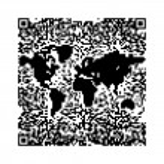 QR code World map — Stock Photo