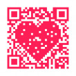 Stock Photo: QR Code Heart