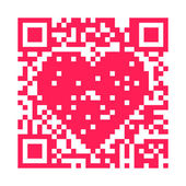 QR Code Heart — Stock Photo