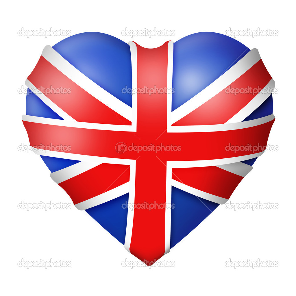 Isolated Union Jack heart, Great Britain flag — Stock Photo #5140787