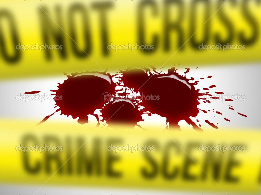 Focus on blood drops for a crime scene — Stock Photo #5140908