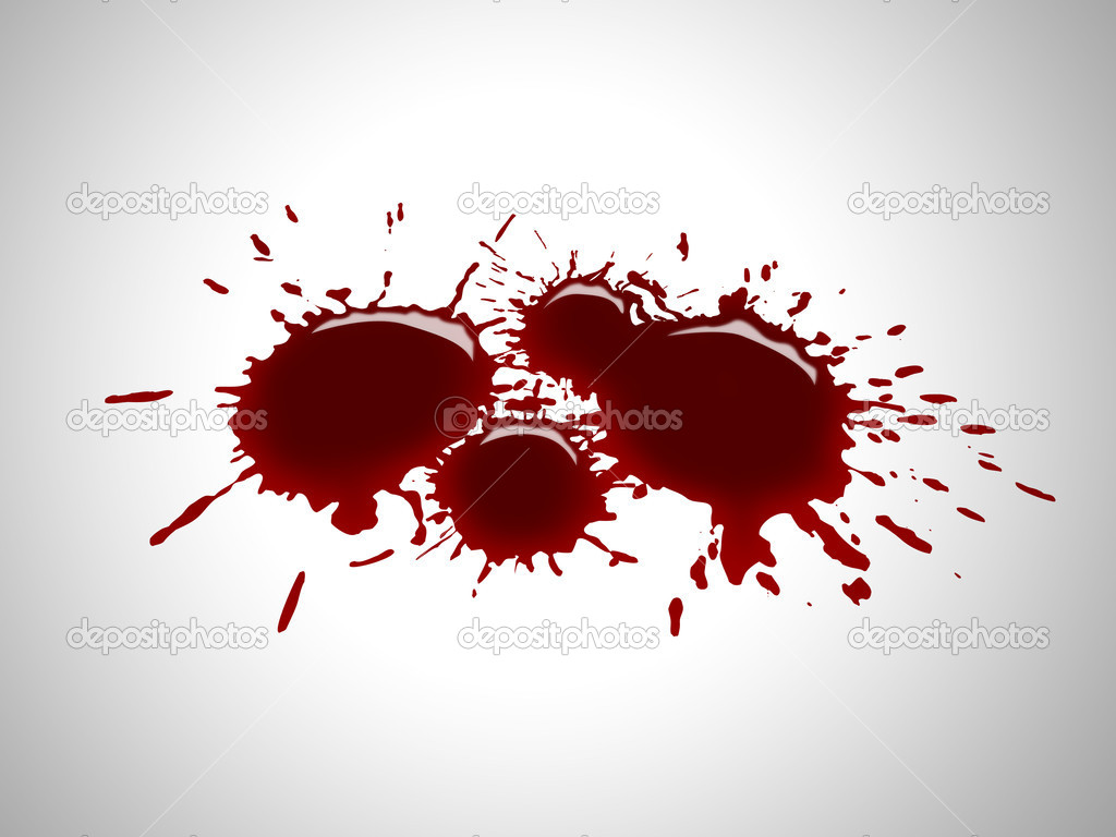 Isolated blood drops on a crime scene  Lizenzfreies Foto #5140921