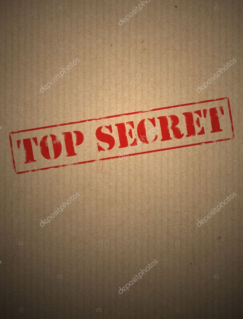 Top secret on kraft paper — Stock Photo #5141195