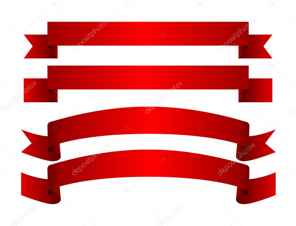Red ribbon  Stock Vector #5233816