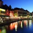 Royalty-Free Stock Photo: Palace of Isle by night at Annecy