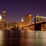 New York - Manhattan Skyline by night — Stock Photo