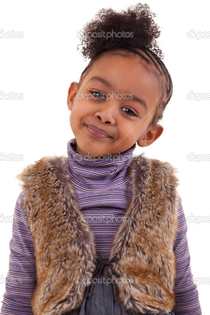 Cute african american girl smiling — Stock Photo #5146029
