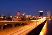Philadelphia-skyline bei nacht — Stockfoto