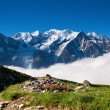 A beautiful view of the french alps - Foto Stock