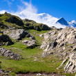 Stock Photo: A beautiful view of the french alps