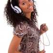 Young woman listening to music — Stock Photo #5342522