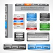 Web elements pack - Vettoriali Stock 
