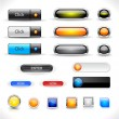 Stock Vector: Web buttons pack