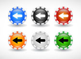 Tlačítka pro web. vektor. — Stock vektor