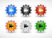 Przyciski dla sieci web. wektor. — Wektor stockowy