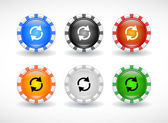Buttons for web. Vector. — ストックベクタ