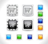 Botões para web. vector. — Vetor de Stock