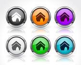 Buttons for web. Vector. — Vector de stock